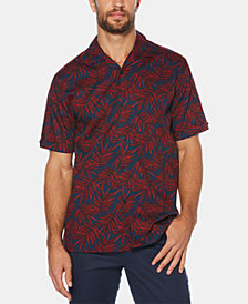 Cubavera Men's Tropical Leaves Short-Sleeve Shirt