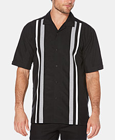 Cubavera Men's Striped Panel Short-Sleeve Shirt