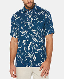 Cubavera Men's Four-Button Tropical Short-Sleeve Shirt