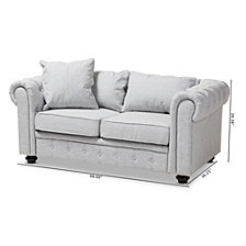 Cathye Arm Loveseat, Quick Ship