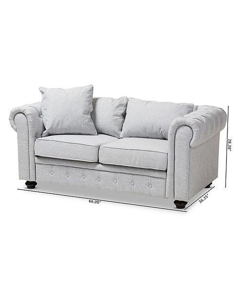 Furniture Cathye Arm Loveseat, Quick Ship