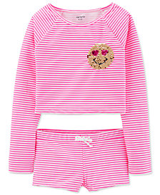 Carter's Little & Big Girls 2-Pc. Striped Swimsuit