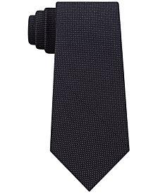 Calvin Klein Men's Reflective Slim Pindot Tie