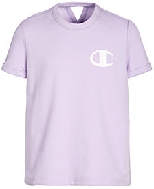 Champion Big Girls French Terry Logo T-Shirt