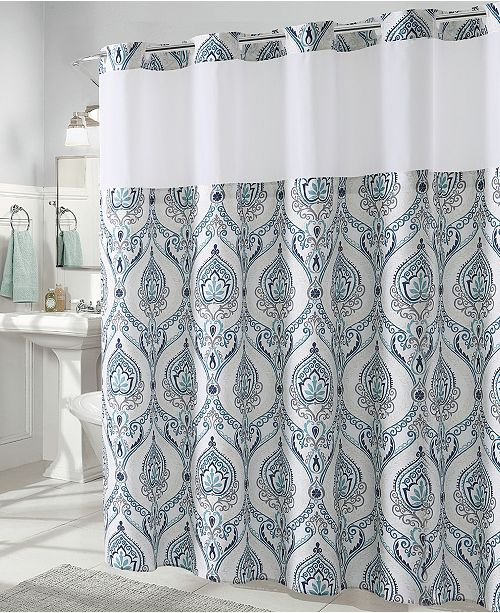 French Damask Print 3 In 1 Shower Curtain