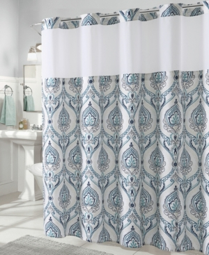 Hookless French Damask Print 3-in-1 Shower Curtain Bedding