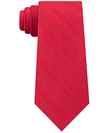 Tommy Hilfiger Men's Classic Red Stripe Silk Ties