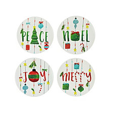 American Atelier Holiday Plates, Set Of 4