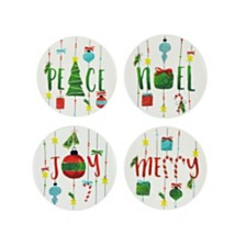 CLOSEOUT! American Atelier Holiday Plates, Set Of 4