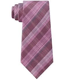 Kenneth Cole Reaction Men's Slim Fine-Line Plaid Tie