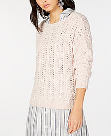 I.N.C. Cable-Knit Chenille Sweater, Created for Macy's