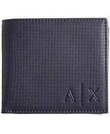 A|X Armani Exchange Men's Bill Fold Wallet with Coin Case