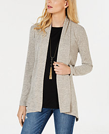 I.N.C. Shawl-Collar Duster Sweater, Created for Macy's