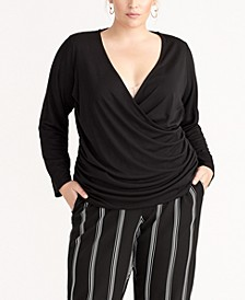 Trendy Plus Size Draped Top, Created for Macy's