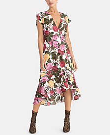 RACHEL Rachel Roy Peyton Printed High-Low Hem Dress, Created for Macy's
