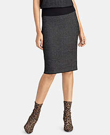 RACHEL Rachel Roy Printed Sweater Skirt, Created for Macy's