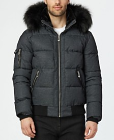 NOIZE Men's Clark Quilted Bomber With Hood