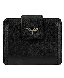 T Tahari Leather Tab Wallet