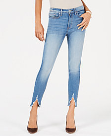American Rag Juniors' Slit High-Rise Skinny Jeans, Created for Macy's
