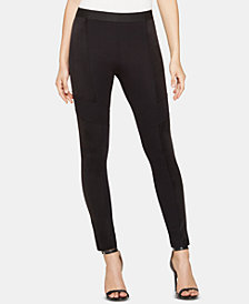 BCBGMAXAZRIA Gertrude Ponté-Knit Colorblocked Leggings