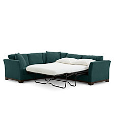 "Elliot II 120"" Fabric 2-Pc. Sleeper Sofa Sectional"