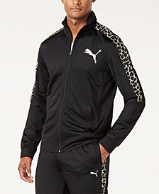 Puma Men's Cheetah-Print Track Jacket