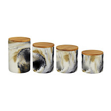 Jay Imports Marble Tortoise Canister, Set of 4