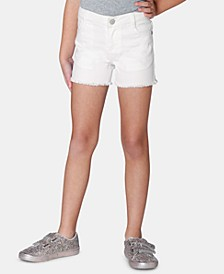 Little Girls Frayed-Hem Denim Shorts, Created for Macy's