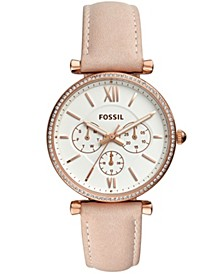 Women's Carlie Blush Leather Strap Watch 38mm