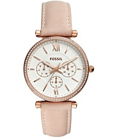 Fossil Women's Carlie Blush Leather Strap Watch 38mm