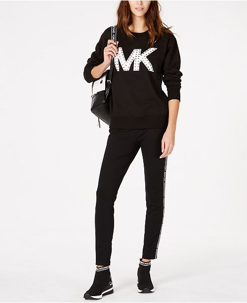 57a9da7ae9a5 Michael Kors Logo Sweatshirt   Leggings   Reviews - Women s Brands ...