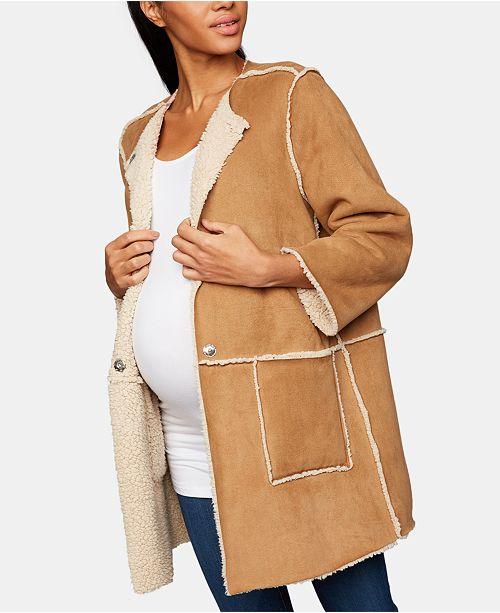 d996b647dfeed BB Dakota Maternity Faux-Suede Jacket & Reviews - Maternity - Women ...