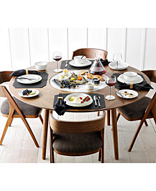 SHOP THE LOOK. Oslo 5-Pc. Dining Set (Lazy Susan Table & 4 Side Chairs) + Lenox Trianna Assorted Tidbit Plates + Accessories