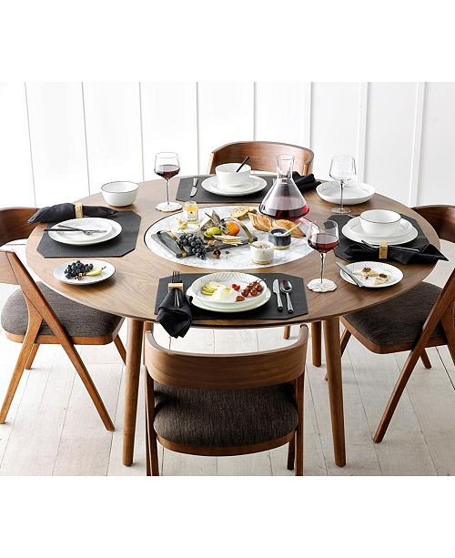 Furniture Oslo Dining 7 Pc Set Lazy Susan Table 6