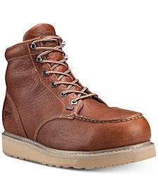 """Barstow-Men's 6"""" Alloy Safety Toe Unlined Work Boot with Wedge Outsole"""