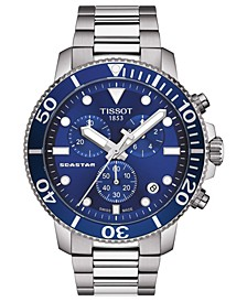 Men's Swiss Chronograph Seastar 1000 Stainless Steel Bracelet Diver Watch 45.5mm