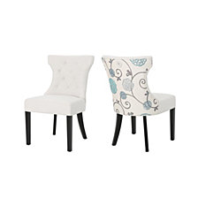 Mircea Two Toned Dining Chairs (Set of 2), Quick Ship
