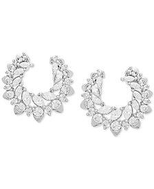 Swarovski Zirconia Wrap Stud Earrings in Sterling Silver
