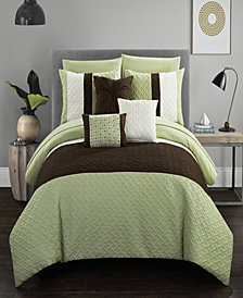 Chic Home Osnat 10 Piece Queen Bed In a Bag Comforter Set