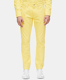Calvin Klein Jeans Men's Slim-Fit Vista Yellow Jeans