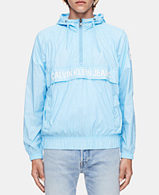 Calvin Klein Jeans Men's Quarter-Zip Logo Windbreaker