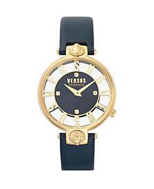 Versus Women's Kristenhof Blue Leather Strap Watch 34mm