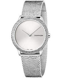 Calivn Klein Women's Swiss Minimal Stainless Steel Mesh Bracelet Watch 35mm
