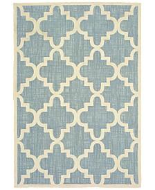 "Oriental Weavers Barbados 6437J Blue/Ivory 5'3"" x 7'6"" Indoor/Outdoor Area Rug"