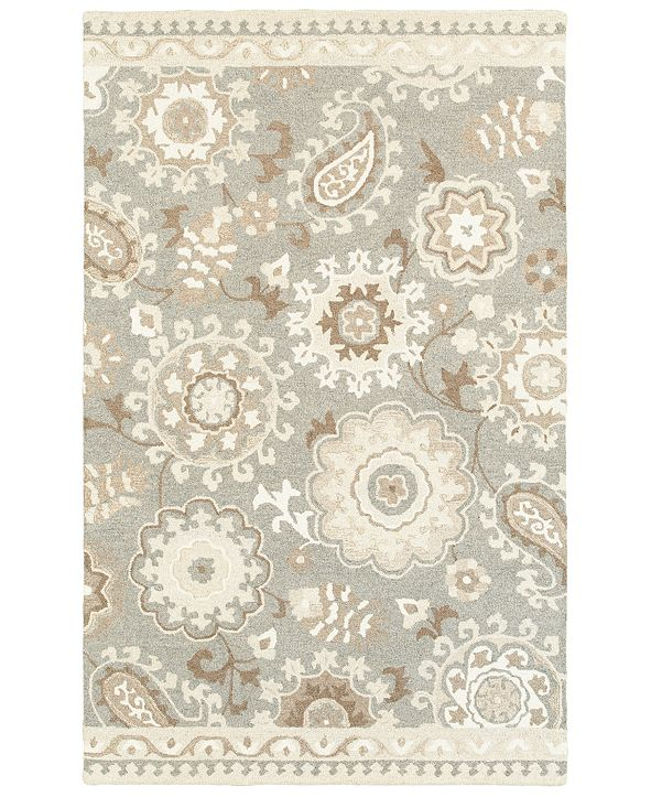 Oriental Weavers Craft 93003 Gray/Sand 5' x 8' Area Rug