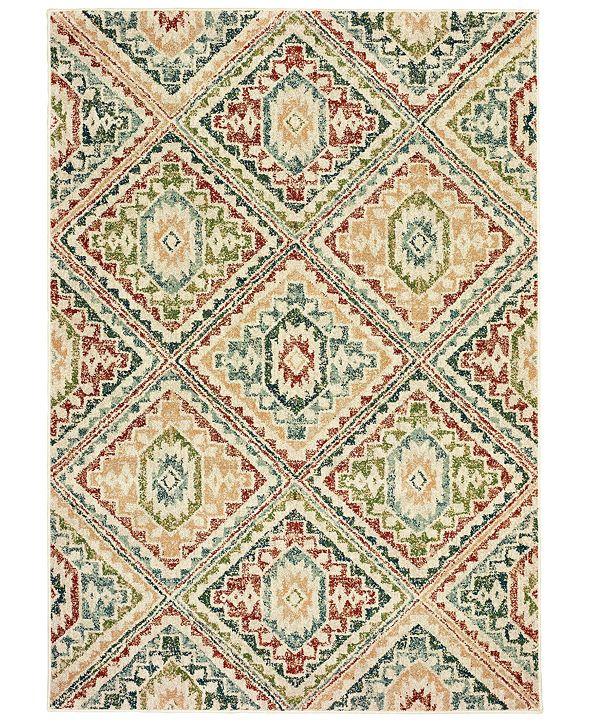 "Oriental Weavers Dawson 8530A Ivory/Multi 7'10"" x 10'10"" Area Rug"