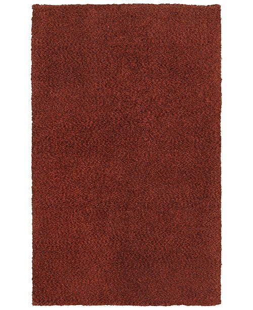 "Oriental Weavers Heavenly Shag 73406 Red/Red 6'6"" x 9'6"" Area Rug"