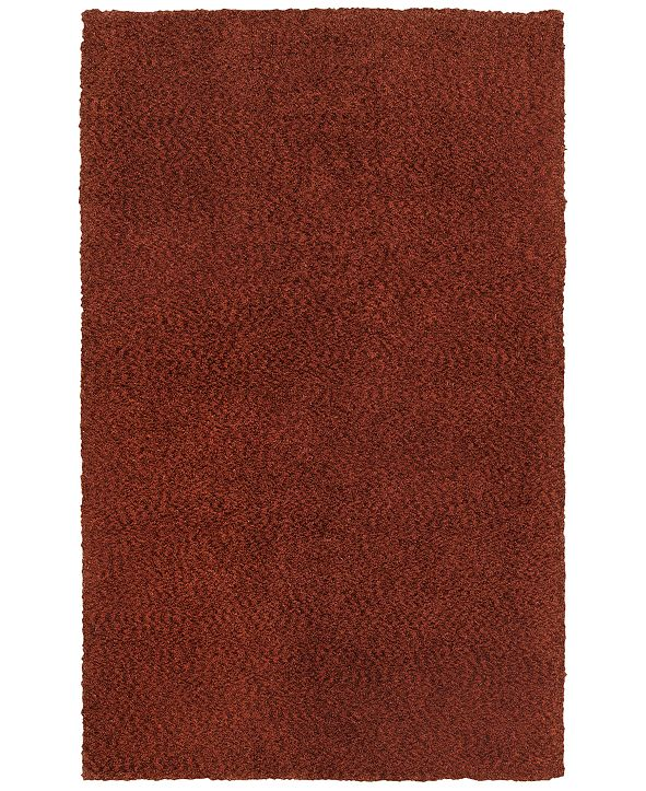 """Oriental Weavers Heavenly Shag 73406 Red/Red 6'6"""" x 9'6"""" Area Rug"""