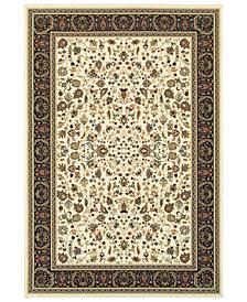 "Oriental Weavers Kashan 108X Ivory/Black 6'7"" x 9'6"" Area Rug"