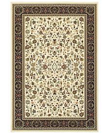 "Oriental Weavers Kashan 108X Ivory/Black 7'10"" x 10'10"" Area Rug"